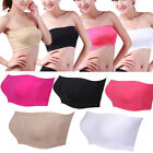 Women's Ladies Sexy Seamless Strapless Padded Boob Tube Top Stretch Bandeau Bra