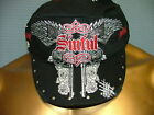 Sinful AFFLICTION Women CADET MILITARY Cap Hat FEMME FATALE Tattoo Biker UFC $50