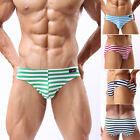❤MAN CHEEKY ❤MenS Y-Front Stripe Comfy Underwear Briefs Thong Underpants Shorts