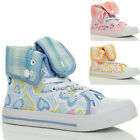 GIRLS CHILDRENS KIDS LACE UP HI HIGH TOP TRAINERS ANKLE BOOTS SHOES SIZE