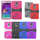 Heavy Duty Hard Cover Silicone Case For Samsung Galaxy Note 4 Accessory
