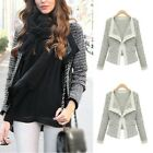 Modish Ladies Slim Short Knit Coat Cardigan Jacket Blazer Outwear S M L XL - LG