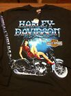 Harley-Davidson Winter Night L / S t-shirt Men's NEW pin up girl