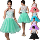 US EUB SHIP Wedding LACE Prom Cocktail Ball Gown Evening/Party/Bridesmaid Dress