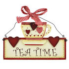 NEW TEATIME WALL PLAQUE - VINTAGE/RETRO WOODEN SIGN - CHIC ART GIFT