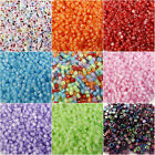 Coloured 6mm Alphabet Letter Beads Loom Band Bracelet Rainbow 100 - 1000pcs Lot
