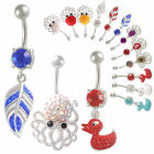 ferido dangle belly bar navel ring button body jewellery 9FQI-PICK STYLES&COLOUR