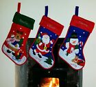 PERSONALISED EMBROIDERED DELUXE XMAS STOCKING SANTA SACK GIFT FILLER ANY NAME