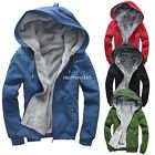 New Winter Casual Men Boy Hoodie Coat Fleece Cotton Jacket Overcoats Clothes