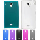 Sharp Aquos Crystal TPU CANDY Gel Hard Flexi Skin Case Phone Cover +Screen Guard