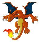 "4.5-8""  POKEMON CHARIZARD  ANIME CHARACTER  WALL SAFE  STICKER CHARACTER BORDER"