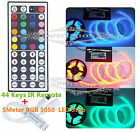 New 5M 300LEDs SMD 5050 RGB Fita LED Light Strip+44 Key RGB IR Remote Controller