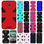 For HTC Desire 510 IMPACT TUFF HYBRID Case Skin Phone Cover + Screen Protector