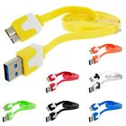 Noodle USB 3.0 Data Charger Cable Cord 3FT for Cell Phones / Devices