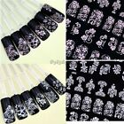 108PCS FLOWER LACE 3D NAIL ART STICKERS DECALS SELF ADHESIVE TRANSFERS