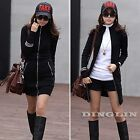 Autumn Winter Women Zip Club Party Bodycon Dress Casual Cardigan Coat Jacket Top
