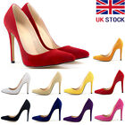 Womens Faux Velve High Heels Pointed Corset Style Party Pumps Shoes UK Size 2- 9
