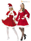 Size 8-22 Adult Ladies Miss Santa Costume Womens Christmas Fancy Dress Outfit
