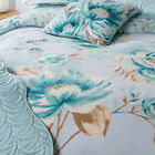 Catherine Lansfield Flora Duck Egg Blue Floral Duvet Quilt Cover Bedding Set