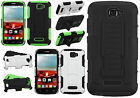 Alcatel ONETOUCH Fierce 2 HYBRID KICKSTAND Rubber Case Cover +Screen Protector