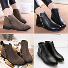 Women Fashion PU Leather Zipper Up Spring Autumn Shoes Flat Short Ankle Boots