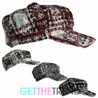 Womens Tweed Baker Boy Hat Ladies Newsboy Peak Puffed Cap Black Hat