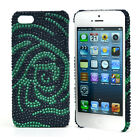 Dasein Rhinestone Embellished Rose Cell Phone Case for iPhone 5