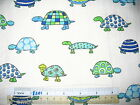 Seashell sea starfish tortoise cotton quilting fabric - *Choose design & size