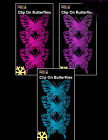 6 x Large Glitter Butterflies Clips Picks Christmas Decorations pink purple blue