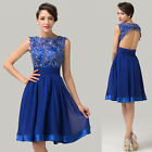 Sexy Backless Vintage Lace Homecoming Bridesmaid Evening Party Prom Short Dress
