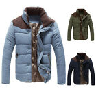 WINTER WARM Hi-Q New Mens Padded Coat Trench Jacket Outwear Casual Business Tops