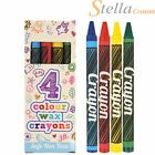 5 to 250 Packs 4 Mini Colouring Wax Crayons Lucky Dip Party Bag Pinata Fillers