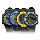New Waterproof Fashion Men's LCD Digital Stopwatch Date Rubber Sport Wrist Watch