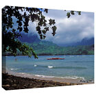 ArtWall Kathy Yates 'Red Canoe on Hanalei Bay' Gallery-Wrapped Canvas