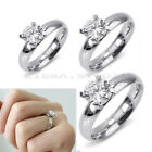 Hot Engagement Wedding Jewelry Women Titanium Stainless Steel Rhinestone Ring