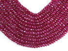 "Precious RUBY 4-5 mm (10 loose FACETED Rondelle) Beads ""A+"" (Select-A-Size)"