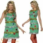 Ladies Christmas Tree Fancy Dress Costume Sexy Xmas Womens Adult Outfit