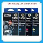 Any 1x Genuine Epson 200XL BK/C/M/Y HY Ink Cart->XP-200/XP-300/XP310/XP400/XP410