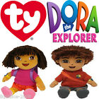 OFFICIAL DORA THE EXPLORER TY BEANIE BABIES COLLECTABLE WITH TAGS DORA AND DIEGO
