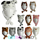Boys Girls Novelty Fun Animal Hat Kids Winter Furry Aviator Trapper Cute Hat