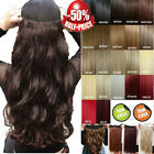 """17""""-30"""" Long New Curly Wavy Straight CLIP IN On HAIR EXTENSIONS 3/4 Full head AG"""