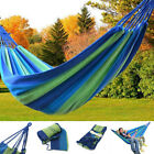 Portable Outdoor Swing Fabric Camping Hanging Hammock Cotton Rope Canvas Bed New