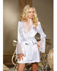 CHIFFON & LACE BELL SLEEVE WHITE ROBE FROM SHIRLEY OF HOLLYWOOD Size S/M-4X