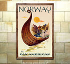Pan Am Norway Vintage Airline Travel Poster 6 sizes matte+glossy avail