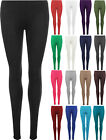 New Plus Size Womens Plain Full Length Ladies Long Stretch Leggings Pants 16-26