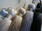 Shard Key Tassels - beige,black,eau,oyster,Silver- trim cushions and curtains