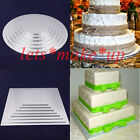 5-12 inches Silver round square cake boards Wedding sugarcraft decorating tools