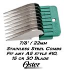 OSTER A5 STAINLESS STEEL Attachment GUIDE COMB Fit Most #10, 15, 30 Clipper Blade