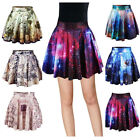 XMAS SALE ~ Women Digital Print Starry Casual Skirt Pleated Mini Dress Clubskirt