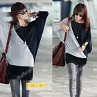 Autumn Women Batwing Long Sleeve Loose Casual T-Shirt Pullover Tunic Top Blouse